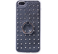 Diamond Soft TPU Cover Case Back with Mobile phone Ring Bracket Mobile phone shell For iPhone 5/5S