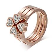 Z&X® Fashion Rhinestone Titanium Wedding Steel Ring Statement Rings Party / Daily / Casual 1pc