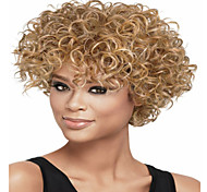 New Arrival European  Lady Women Blonde Short  Curl  Syntheic  Wave  Wigs