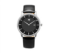 AIBI® Men's Fashion Watch Calendar Water Resistant Leather Band Black Designer Dress Watch For Men Wrist Watch Cool Watch Unique Watch With Watch Box