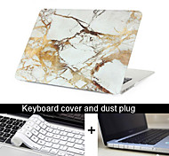 "New 3 in 1  Marble Texture Case Cover+Keyboard Cover+ Dust Plug for Macbook Pro 13.3"" /15.4"""