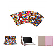 Brand Designer Korea Cute Sunflower Flip Ultra Slim Stand Leather Book Case Smart Cover For iPad 4/3/2