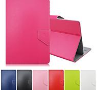patrón de colores sólidos de alta calidad de cuero de la PU con el caso del soporte para la tableta de 7 pulgadas universales