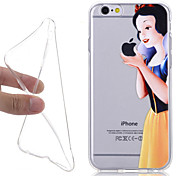 New Fairy Tale Snow White 3D Pattern TPU Back Cover for iPhone 6/6S