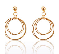 Simple Style Four Loops Alloy Earrings