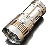6000 Lumens 3x CREE XM-L2 Light Flashlight, Searchlight Spotlight selling well High Power Good Quality super T6(Gold)