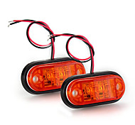 2 x Car Truck Trailer Piranha LED Side Marker Blinker Light Lamp Bulb Amber
