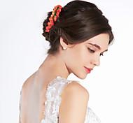 Pink Rosette Flower Girl Garland/Headpiece