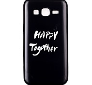 White Letter TPU Material Cell Phone Case for Samsung GALAXY G360/J1/J2/G5308/9082/