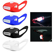 Bike Cycling Riding 7 LED Silicone Super Frog Head Front Lamp Safety Warning light With batteries Super bright 3 Modes