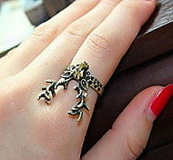 European And American jewelry Retro Horned Deer Ring