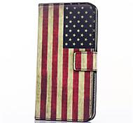 patrón de la bandera americana de la PU cuero de la cubierta de cuerpo completo con soporte para sumsumg galaxia Galaxy Xcover 3 g388f