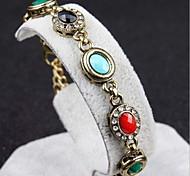 Circular Hollow Retro Gem Diamond Bracelet
