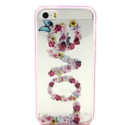 2-in-1 Butterfly Love Pattern TPU Back Cover with PC Bumper Shockproof Soft Case for iPhone 5/5S