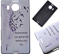 Flying Feather Pattern PC Hard Cover Case for NOKIA 950 XL