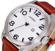 Luminous Date Waterproof Casual Watches Men Leather Strap Fashion Business Sports Watch Clock Hours