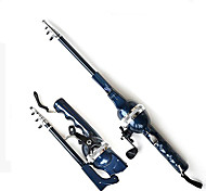 Vara de Pesca com lançador, portátil com 131cm de comprimento total.(0.235/120,0.285/100,0.33/80)