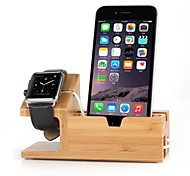 Apple Osservare e stand iphone bambù ricarica dock station supporto della staffa culla per Apple Osservare iWatch