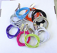 Metal Braided Line Samsung Micro USB Bold Draw Resistance Wiring Fast Charging Line 9 Color 1M Universal USB Cables
