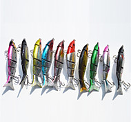 10 Pcs 12cm/21g 5 Section Minnow Floating Lure for Sea Fishing Random Color