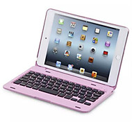 For Case Cover with Stand with Keyboard Flip Full Body Case Solid Color Hard PC for iPad Mini 4