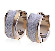 European Style Fashion Men'S Titanium Steel Arenaceous Earrings