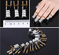 5Pcs/Set Hot Reusable Aluminum Prop Nail Care Forms Extension Tool Nails Stand Support Finger Rest