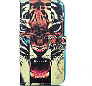 Tiger Leather Wallet for Samsung Galaxy J1 J5