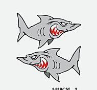 divertido del coche del tiburón etiqueta engomada del coche ventana de pared de estilo coche calcomanía 2pcs