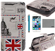LEXY® UK Envelope Pattern PU Full Body Leather Case with Screen Protector and Stylus for iPhone 6/6S