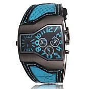 reloj de cuarzo doble huso horario dial grande personalizada