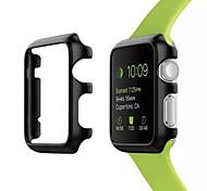 para el reloj de la manzana 42 mm caja de plástico cubierta protectora carcasa frontal duro ultra delgado para el caso de 42 mm reloj de