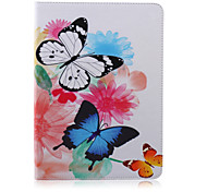 Two Butterflies Painted Bracket Tablet PU Case for Galaxy Tab S 10.5 T800/  E 9.6 T560/ A 9.7 T550/ 4 10.1 T530/S2 9.7