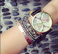 Vintage Womens Watch Map Wood Unisex Watches,Gifts For Her,Birthday Gift Cool Watches Unique Watches Strap Watch