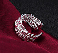 2015 Fashion Sterling Silver Ring Mesh Adjustable Party  Band Rings For Woman & Lady