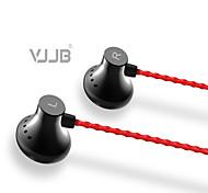 vjjb C1s mejorados auriculares bajos auriculares (3 inserciones tamaño del oído diferentes) conector de 3,5 mm en la oreja (con micrófono)