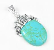 moda in avanti annata turchese blu gioiello in argento 925 pendenti della stella a cinque punte per collane di nozze 1pc quotidiano