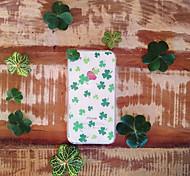 maycari® glücklicher Klee transparente TPU Tasche für iPhone 6 / iphone 6s