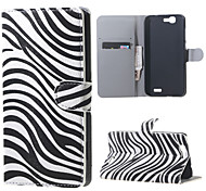Zebra Stripes  Magnetic Leather Wallet Handbag Book Cover Case For Flip Huawei ascend G7