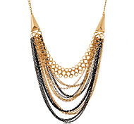 European Style Fashion More Rows 8 Capacity Alloy Necklace