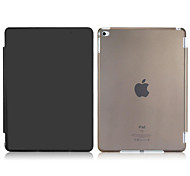 Tri-fold Faux Leather & Plastic Flip Case for iPad 6/iPad Air 2 (Assorted Colors)