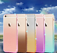 Ice Color Luxury Giamond Gradient Green TPU Material Phone Case for iPhone 6/6S