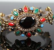 Bronze Colored Gemstone Diamond Bracelet