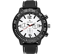 Men's Racing Design Rubber Strap Quartz Casual Watch