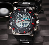 Men's Fashion Double Time Digital Rubber Sports Wristwatch