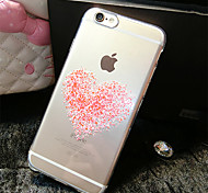 Pink Hearts Pattern TPU Transparent Soft Shell Phone Case Back Cover Case for iPhone6 Plus