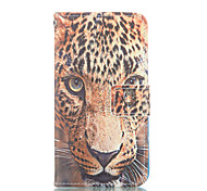 Leopard Pattern PU Leather Painted Phone Case For GALAXY S3/ S4 / S5 / S6 / S6edge / S3 Mini / S4 Mini / S5 Mini