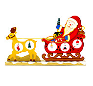 Cartoon Wood Christmas Deer Pull Carts Ornaments Desktop Decorative Ornaments Supplies Creative Funny Novelty Toys