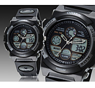 nera japan vigilanza di sport immersioni movimento moda rotondo banda di silicone quadrante dell'orologio da polso da uomo (colori
