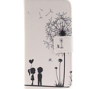 Lovers Dandelion Pattern PU Leather Full Body Cover with Stand for Samsung Galaxy J2/Galaxy J3